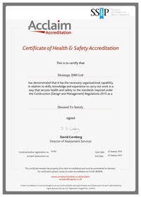 Certificate for Construction Line