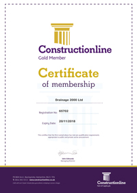 Certificate for Construction Line Gold
